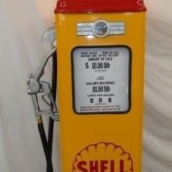 REPLICA SHELL GAS PUMP