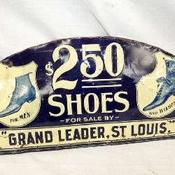 19X10 EMB. 2.50 SHOES SIGN