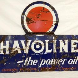 46X36 PORC. HAVOLINE MOTOR OIL SIGN