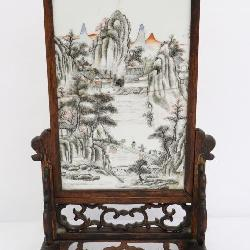 Chinese 19th century porcelain plaque