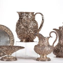 Selection of Baltimore and other sterling repousse, from the estate collection of Buryl and Nelwyn..