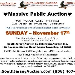 A FUN – ACTION – PACKED – AUCTION LIVE   ABSENTEE   PHONE BID   IN-PERSON Sunday – November 17, 2019  Doors Open 8:00 am – Auction Starts 8:30 am  Preview: Saturday 8:30-3:00 pm