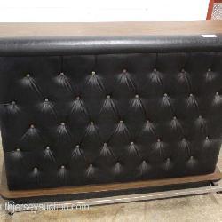 VINTAGE Modern Design Leather Front Button Tufted Bar
