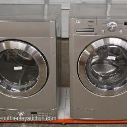 """Set of """"LG Tromm"""" Electric Dryer and Washer Stackable Front Loaders"""