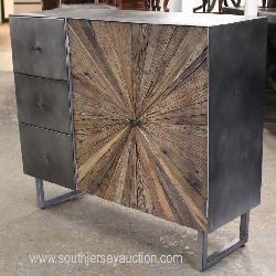 Industrial Style Industrial Wood 2 Door Liquor Cabinet