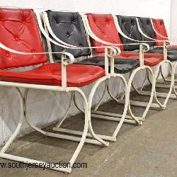 """Set of 6 Mid Century """"X"""" Frame Chairs"""