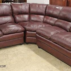 Like New 3 Section Leather Sofa