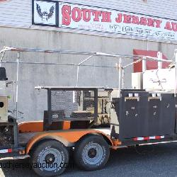 Double Axle Custom BBQ Trailer with Smokers, Water, Canopy, Accessories and has Registration
