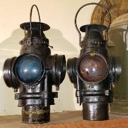 Antique railraod lanterns