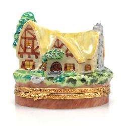 Artoria Dopey Mine Cart Trinket Box Limoges France