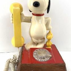 Vintage 1976 Snoopy & Woodstock Rotary Telephone