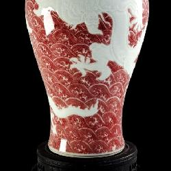 Chinese Meiping Vase 5 Claw Dragons