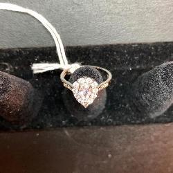 Diamond Teardrop Ring