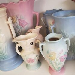 Over 500+ Pieces of Hull Pottery in this Home