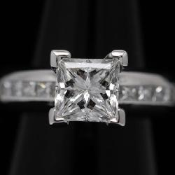 2.26ct, D VVS2 platinum diamond ring