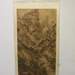 Antique Chinese water color scroll