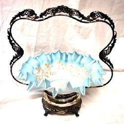 EARLY VICTORIAN BRIDES BASKET