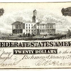 Confederate States of America $20 Currency