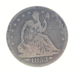 1853 Seated Half Dollar with Arrows