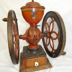 ALL ORIG. COFFEE MEAL W/ DOUBLE WHEELS