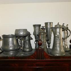 collection of quality Kayserzinn German pewter