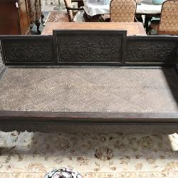 Chinese vintage rosewood lohan bed