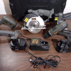Working Durabuilt Cordless Power Tool Set - current bid $20