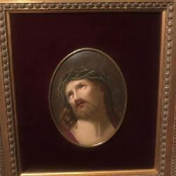 Antique KPM Jesus Plaque