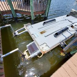 SAFE HAVEN FLOAT ON BOAT LIFT