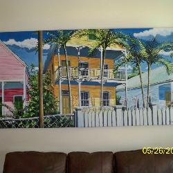 Rick Worth Key West Acrylic Painting