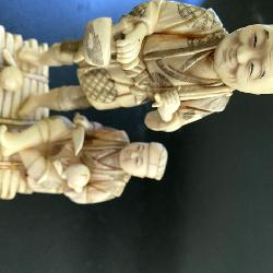 Chinese carved Ivory statues