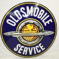 5FT. PORC. OLDSMOBILE SERVICE SIGN