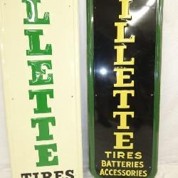 VIEW 3 BOTTOM EMB. GILLETTE TIRES SIGNS