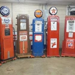GROUP PHOTO VARIOUS GAS PUMPS