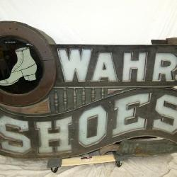 72X48 EARLY WAHR SHOES TRADE SIGN