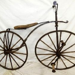 RARE BLACKSMITH MADE  VELOCIPIDE BICYCLE