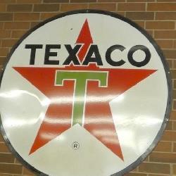 6FT. PORC. TEXACO SIGN