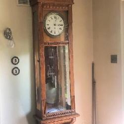 Gilbert #12 Regulator Clock, 7.5' Tall