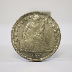 1844 silver dollar