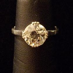 2+ Carat VVS2 Diamond Ring