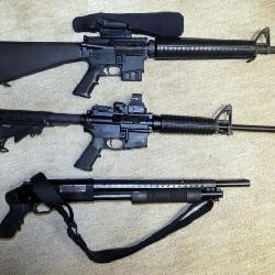 COLLECTION OF TACTICAL GUNS