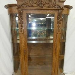 TRIPLE CURVED OAK CHINA W/ CARVED CROWN