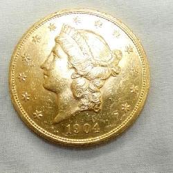 1904 $20 GOLD LIBERTY COIN